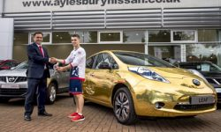 vl-paralympics-max-whitlock-gets-gold-wrapped-nissan-leaf-from-paul-cockton-in-ayles