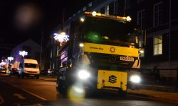 Gritty task: TfB gritter on the road at night