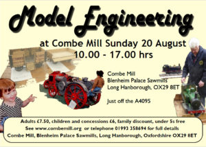 Combe Mill in Steam   Sun 20th August 2017 @ Combe Mill | England | United Kingdom