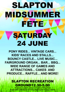 Slapton Midsummer Fete @ Slapton Recreation Ground | Slapton | England | United Kingdom