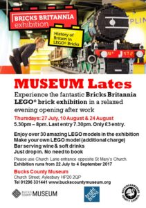 Bricks Britannia: Thursday Museum Lates Evening Opening @ Bucks County Museum | England | United Kingdom