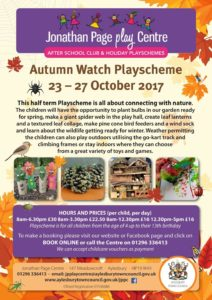 Autumn Watch Playscheme @ Jonathan Page Play Centre | England | United Kingdom
