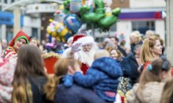 Father Christmas in the crowds at Aylesbury