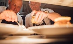 Chris Mackett and Tom Kerridge at the event