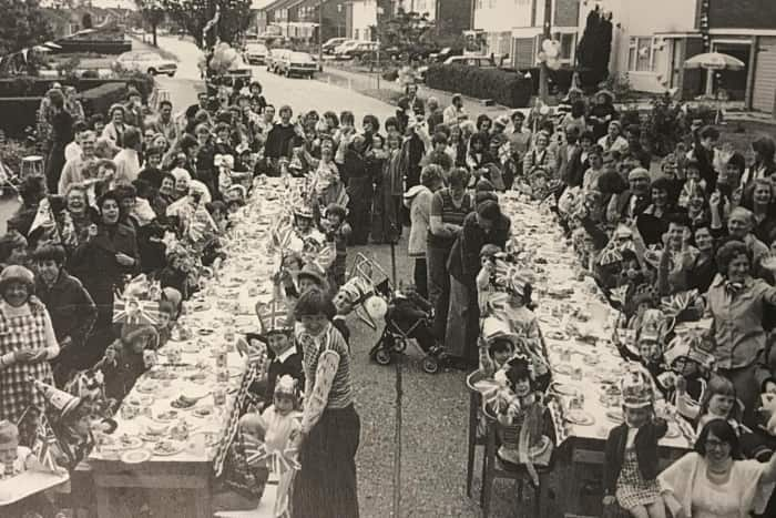 An Aylesbury street party in 1977 to celebrate the Queen's Silver Jubilee in Bedgrove