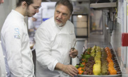 Raymond Blanc, OBE, pictured with Mathieu Coiffard at Le Manoir