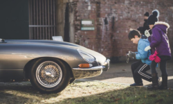 An historic Jaguar is bound to be a centre of attention