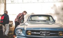 A Mustang classic car