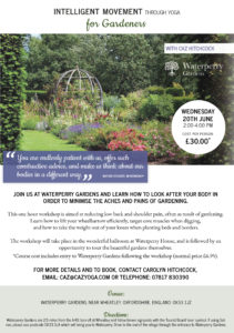 Intelligent Movement with Yoga for Gardeners @ Waterperry House