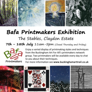 Bafa Printmakers Exhibition @ The Stables, Claydon Courtyard, Claydon Estate  | Middle Claydon | England | United Kingdom