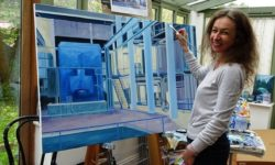 Pic 3 Sarah Moncrieff in the studio