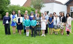 The citizenship ceremony at the Aylesbury school