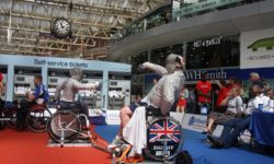 Wheelchair fencing at Waterloo Station