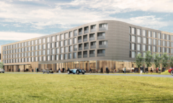 Computer graphic of how the new hotel at Bicester might look