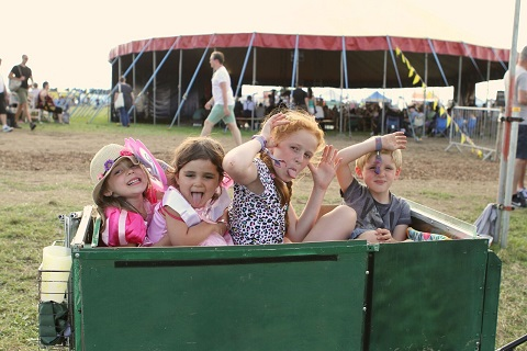 Towersey Festival children having fun