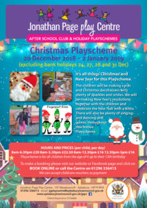 Christmas Playscheme at the Jonathan Page Play Centre @ Jonathan Page Play Centre | England | United Kingdom