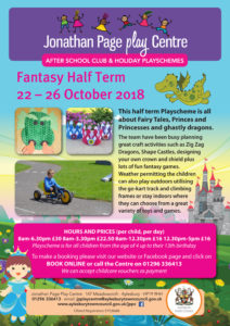 Fantasy Half Term Playscheme at the Jonathan Page Play Centre @ Jonathan Page Play Centre | England | United Kingdom