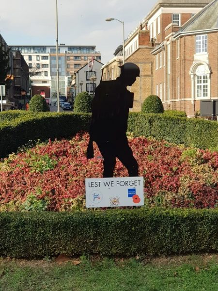 Aylesbury's Tommy silhouette