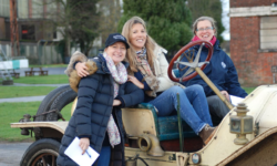 Women getting to grips with vintage cars at Bicester