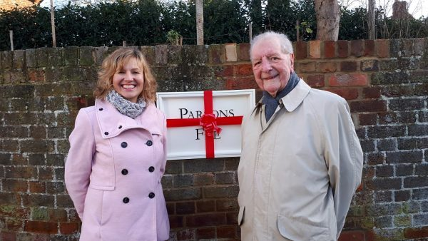 Parsons Fee's new look sign with Diana Fawcett and David Vowles