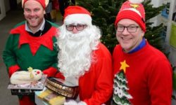Paul Irwin, Mark Shaw and Warren Whyte launch the county council's annual Christmas present appeal