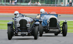 Bentleys racing at Silverstone
