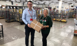 Dainius Lapienis and Cllr Sue Renshell at Aylesbury Delivery Office