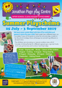 Summer Playscheme 2019 @ Jonathan Page Play Centre