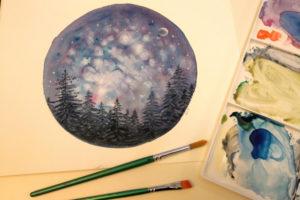 Adult Art Short Courses: Paint a Night Sky @ Queens Park Arts Centre