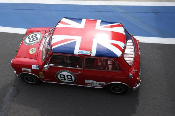 Mini original Silverstone Union jack roof