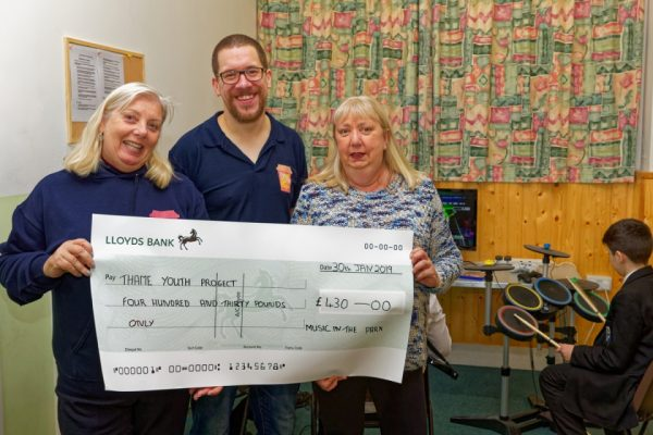 The Thame Youth Cafe cheque