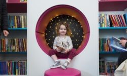 A youngster enjoys the new Aylesbury Library