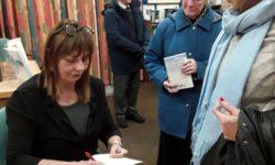Elizabeth Buchan at a book signing