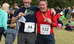 Medal winners Andy Graham and his neighbour at Prestwood