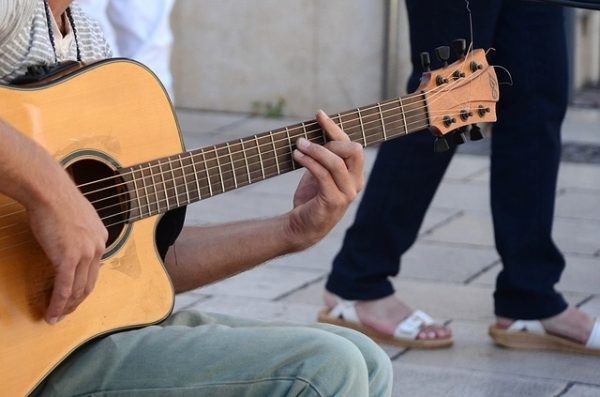 Buskers are being made welcome in Aylesbury