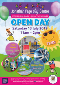 Open Day at Jonathan Page Play Centre @ Jonathan Page Play Centre