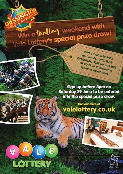 Vale Lottery prize draw Chessington World of Adventures