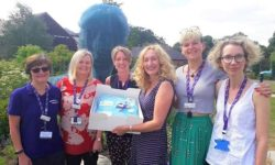 Alison Page Marketing and the hospice team celebrate