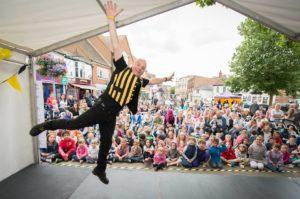 Colonel Custard and his magic show @ Market Square