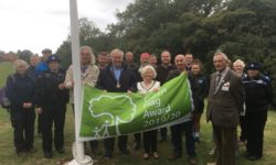Heartlands Green Flag raising