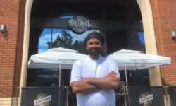 Usman Majid outside his new restaurant The Grill Steakhouse at The Exchange