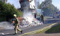 Waste truck fire