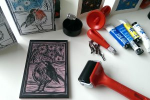 Linocut Classes: Valentines Cards @ Queens Park Arts Centre