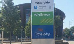 Waterside car park entrance