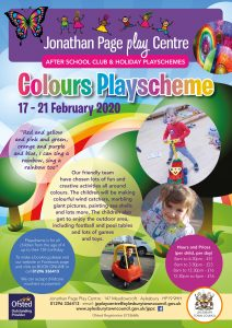 February Half Term Playscheme - Colours Week @ Jonathan Page Play Centre