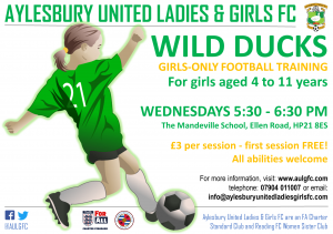 Wild Ducks | Girls-only football training for 4 to 11 years @ The Mandeville School