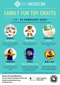 Toy Craft Activities - Half Term family fun @ Bucks County Museum